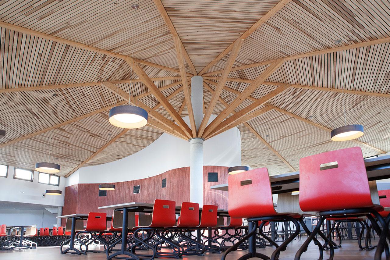 Lycée Jules Fil construction de la nouvelle entrée et du restaurant scolaire